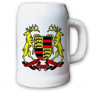 Krug / Bierkrug 0, 5l Württemberg Baden-Württemberg Landeswappen Bundesland #9413