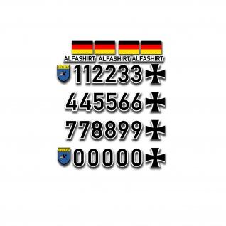Luftwaffe Luftfahrtkennungs Set LTG 62 1zu10 1zu8 Model Flugzeug 3, 5cm A5352