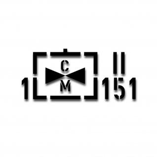 Aufkleber Taktisches Zeichen 1 Heeresfliegerregiment 151 14x32cm #A4339