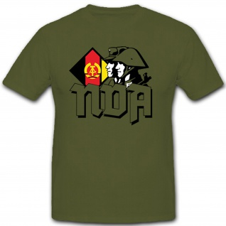 NVA Soldaten Und Wappen DDR Militär Abzeichen - T Shirt #7554