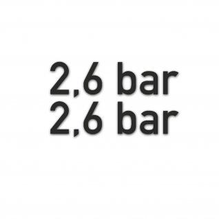 2, 6 bar Reifendruck Aufkleber Sticker Set Druck 2x 1, 5x5cm#A5307