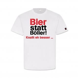Bier statt Böller knallt eh besser Silvester Fun Party Humor - T Shirt #17180