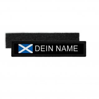 Namenspatch Schottland Schwarz Name Patch Aufnäher Wunschname Scottland #31630