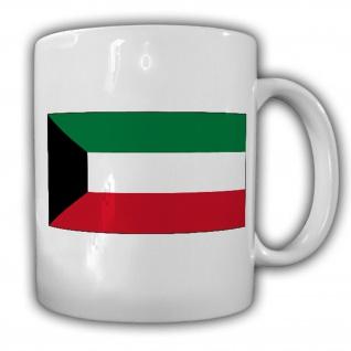 Kuwait Fahne Flagge Daulat al-Kuwait Staat - Kaffee Becher Tasse #13670