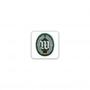 Aufkleber/Sticker Barettabzeichen Wachbataillon Streitkräftebasis 7x7cm A2468