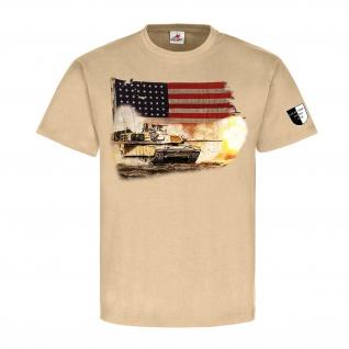 Lukas Wirp M1 Us Tank Panzer USA Irak Militär Malerei Amerika T Shirt #23556