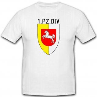 Panzer Division Militär Bundeswehr Wappen Abzeichen 1 Pzdiv T Shirt #2269