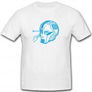 Cyberskull Roboter Internet Pc Freak Festplatte Humor Fun Spaß - T Shirt #14