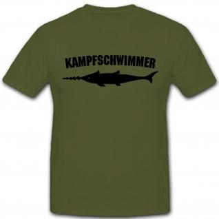 Kampfschwimmer Sägefisch Schwertfisch Bundeswehr Wappen Froschmänner Froschmann Abzeichen Emblem - T Shirt #4220