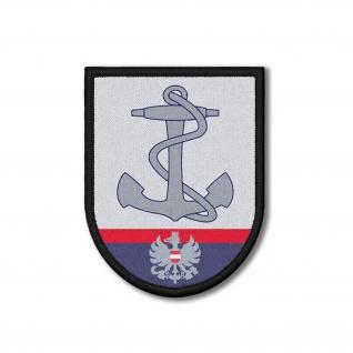 Patch Schiffsführer Polizei Österreich Aufnäher Abzeichen Donau 9x7cm #26189