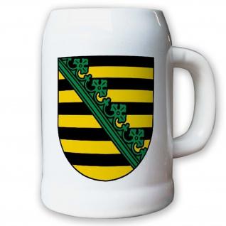 Krug / Bierkrug 0, 5l - Wappen Landeswappen Fahne Flagge Sachsen Geschichte #9419