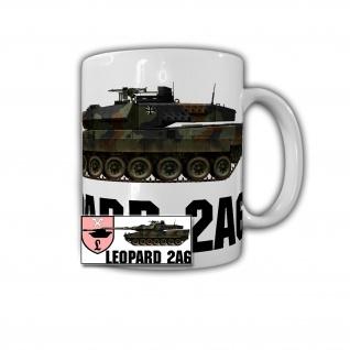Tasse Leopard 2A6 Panzer 120mm Glattrohr PzLBtl 93 Munster Bundeswehr #30796