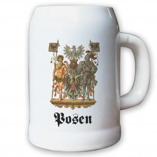 Krug / Bierkrug 0, 5l - Preußische Provinz Posen Kaiserreich Deutschland #9482