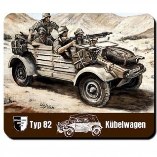 Mauspad Lukas Wirp Kübelwagen TYP 82 Afrikakorps Bild Gemälde Kunst Druck #24109
