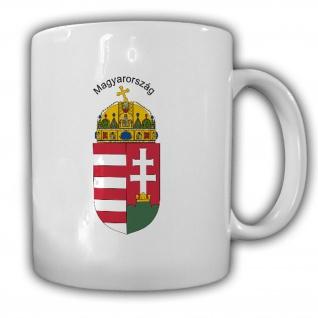 Tasse Ungarn Wappen Emblem Magyarország Kaffee Becher #13965