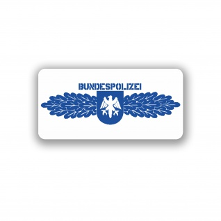 BUNDESPOLIZEI Abzeichen TYP2 Aufkleber BPOL Bundesrepublik 10x5cm#A3735