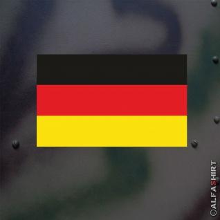 Aufkleber/Sticker Deutschland Fahne Bundeswehr Fahrzeug ISAF 15x14cm #A528