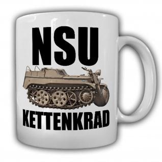 NSU Kettenkraftkrad Typ HK 101 Oldtimer SdKfz2 Motorrad Halbkette Tasse #15617