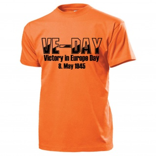 VE-Day Victory in Europe Day 8 May 1945 US Army Europa Militär T Shirt #15455