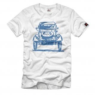 Kübel WW2 Kübelwagen Typ82 Oldtimer kdf Wagen Auto Karosserie T-Shirt#33048