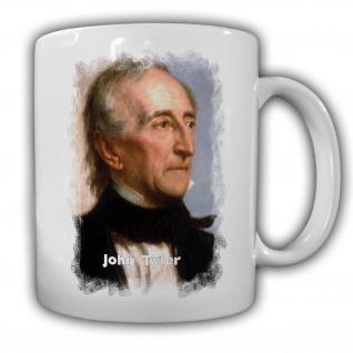 Tasse Präsident John Tyler 10 Präsident Vereinigten Staaten von Amerika #14110