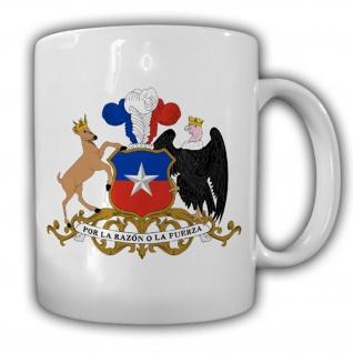 Chile Wappen Emblem República de Chile - Tasse Becher Kaffee #13436