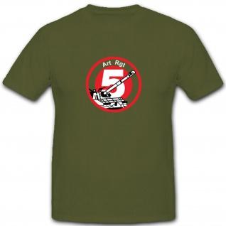 Artillerie Regiment 5 Artrgt5 Schweizer Armee Militär - T Shirt #3735