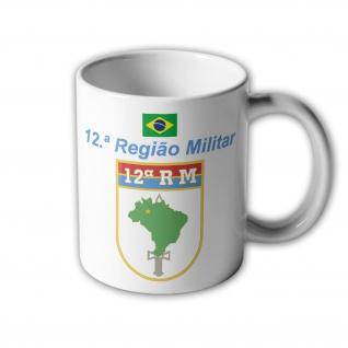 12ª Regiao Militär Brasil Exército Brasileiro - Tasse Becher Kaffee #33390