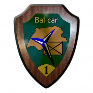 Wappenschild/Wandschild -Bat car 1 Jäger Schweizer Armee Schweiz #14239