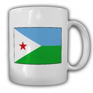 Dschibuti Flagge Fahne Republik - Tasse Becher Kaffee #13464