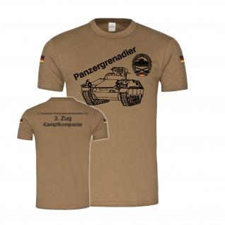 BW Tropen 3 Zug 2 Kp PzGrenBtl 122 Panzergrenadier Bataillon T-Shirt #34190