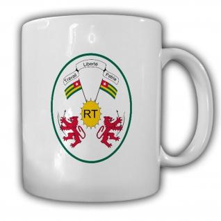 Tasse Republik Togo Wappen Emblem République Togolaise Kaffee Becher #13941