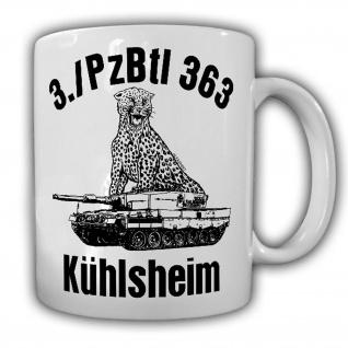 Tasse 3 PzBtl 363 Kühlsheim Leopard 2A4 Panzer Leo BW Raubkatze Kompanie #23388