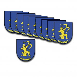 Aufkleber/Sticker LwAusbRgt 1 Set Luftwaffenausbildungsregiment 10x 9x7, 5 A3283
