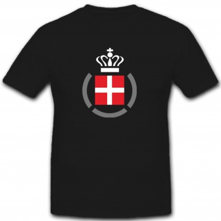 Dänemark Krone Kreuz Militär Abzeichen Wappen - T Shirt #7466