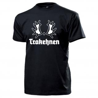 Trakehnen Trakener Wappen Abzeichen Ostpreußen Gestüt - T Shirt #14066