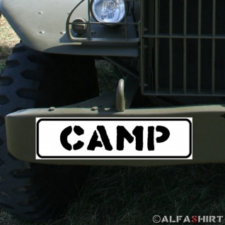 Magnetschild Camp Biwak kampieren zelten Treffen Verein Feier Bundeswehr #A330