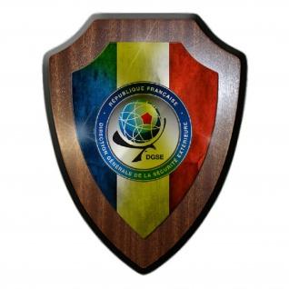 Wappenschild DSGE Wappen Abzeichen Frankreich Auslandsnachrichtendienst #26311