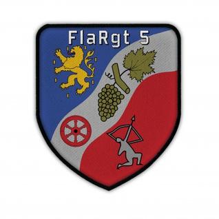Patch / Aufnäher -FlaRgt 5 Flugabwehrregiment Lorch Bundeswehr Flugabwehr #14217