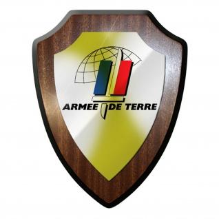 Wappenschild / Wandschild -Armee de terre Frankreich Heer Militär #9662
