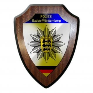 Wappenschild Polizei Baden-Württemberg Wappen Abzeichen Stuttgart #23075