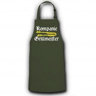 Schürze Kompanie Grillmeister BW Bundeswehr Grillen BBQ Fest Sommer #2748