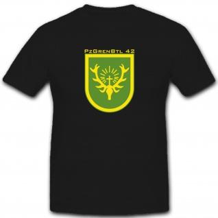 Pzgrenbtl 42 Panzergrenadierbataillon 42 Wappen Abzeichen Militär T Shirt #2924