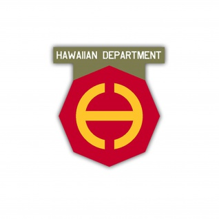 Aufkleber/Sticker Hawaiian Department US Army USA Amerika Wappen 7x6cm A1109