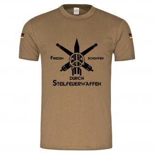 Frieden schaffen durch Steilfeuerwaffen Bundeswehr BW Tropenshirt #15042