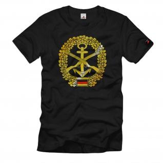 Barettabzeichen Marinesicherung Marineschutz Bataillon Deutschland T Shirt #622