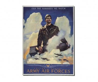 Poster US Luftwaffe Propaganda Air Force Pilot US Soldat B52 ab 30x22cm #30955