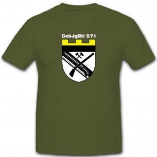 Gebjgbtl571 Gebirgsjägerbataillon 571 Bundeswehr Militär Einheit - T Shirt #3506