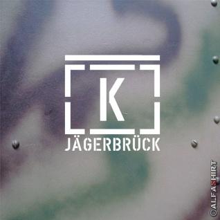 Truppenübungsplatz Kommandantur Jägerbrück Taktischen Zeichen 18x18cm #A507