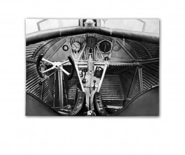 Poster Ju F 13 Cockpit Ganzmetallflugzeug 1919 Dessau ab 30x22cm #31101
